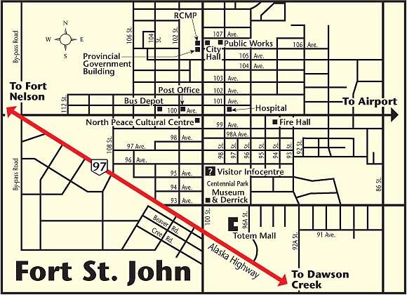 Fort St John Map Fort St John Map | compressportnederland Fort St John Map