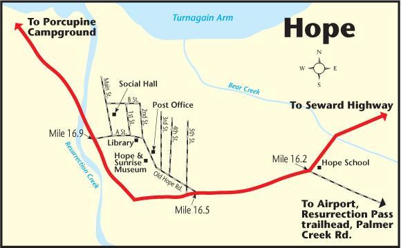 20 Mile River Alaska Map.Hope The Milepost