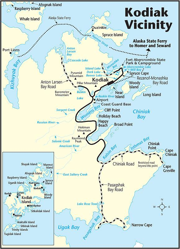 Kodiak The Milepost - Us coast guard bases map