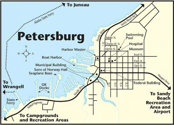 Petersburg Alaska Map Petersburg | The Milepost