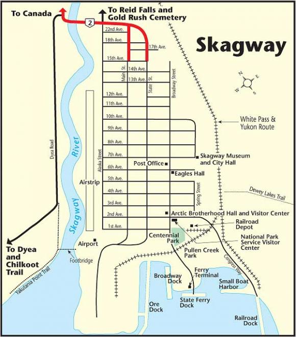 City Map Of Skagway Alaska - Ancora.store •
