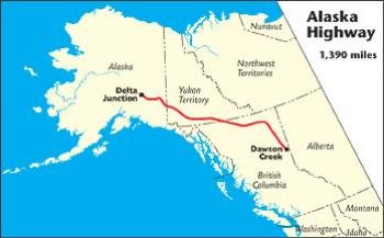 Fort Yukon Alaska Map.Alaska Highway The Milepost