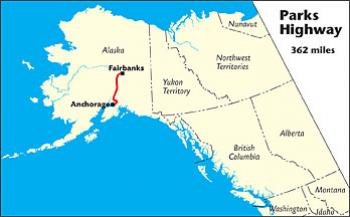 Bluff Alaska Map.Parks Highway The Milepost