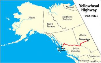 Map Of Canada Highways.Yellowhead Highway The Milepost
